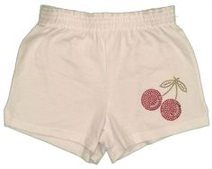 Soffe Cherries Rhinestone Camp Shorts