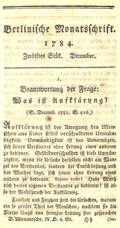 Immanuel Kant - Beantwortung der Frage - Was ist Aufklärung - Glarean Magazin Sheet Music, Book, Music Sheets