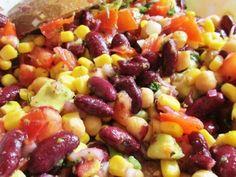 Salata de post cu fasole rosie - imagine 1 mare Fruit Salad, Carne, Cooking Recipes, Vegetables, Health, Food, Website, Vegans, Diet