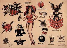 Sailor Jerry tattoo flash