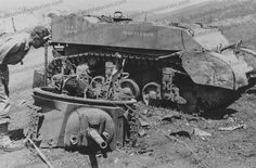 knocked out tank photos | BHC 000428 Knocked out American Stuart light reconnaissance tank Monte ...