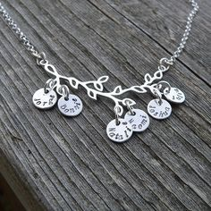 Branches of My Family...Sterling Necklace. $84.00, via Etsy.