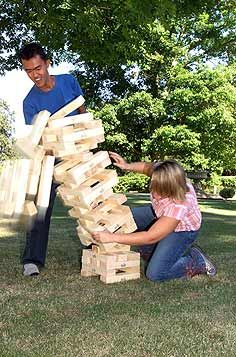 Giant garden games like jenga and connect 4