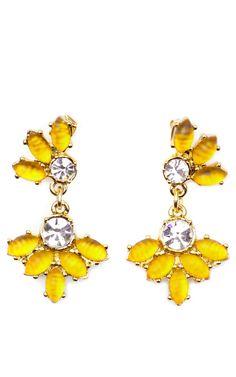 Nov 2013-Lightray Earring In Yellow by Lulu Frost for Preorder on Moda Operandi