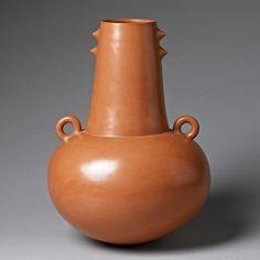 """Magdalene Odundo: A Terracotta Symmetrical VaseA Terracotta Symmetrical Vase, 1990  A Terracotta Symmetrical Vase, 1990  Height 30cm (11 3/4"""") Diameter 20cm (7 7/8"""")"""