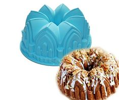 Large Crown Swirl Bundt Cake Pan Bread Chocolate Bakeware Silicone Mold -- You can find more details by visiting the image link.(This is an Amazon affiliate link and I receive a commission for the sales)