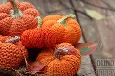 Crochet Pattern PUMPKINS SET 5 different variations by OlinoHobby