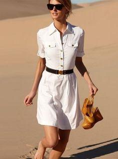 Classic n Perfect for summer. white-shirt dress. #shirtdress