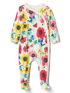 Gap Floral One-piece baby girl