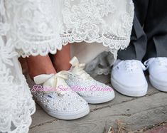 wedding shoes pearl hochzeitsschuhe turnschuhe Custom Pearl and Crystal Rhinestone Bridal Vans Wedding Shoes Bride Converse, Converse Wedding Shoes, Vans Shoes, Wedding Vans, Wedding Stuff, Wedding Dress, Pearl Shoes, Vanz, Dr Martens Boots