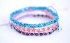 Macrame bracelet par Batinetteshop sur Etsy