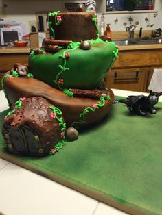"Homemade ""how to train your dragon"" birthday cake!!!"