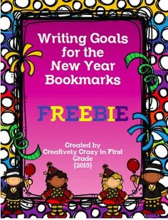 Happy New Year Goals Writing Bookmark FreebieStudents can write three goals to work on this new year! Students can color the bookmark or you have an option to print one in color. Then, punch a hole at the end of the bookmark and add a fun ribbon. As students work on their goals, you can even add stickers to the back, or students can decorate the back of the bookmark.