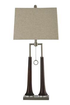 Eamon Contemporary Single Ring Pull Chain Table Lamp #shopgahs #lamps #tablelamp #lamp #lighting #livingroom #diningroom #bedroom #entryway #hallway #familyroom #office #homeoffice #guestroom