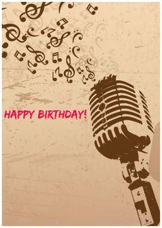 Happy Birthday Singer, Happy Birthday Vintage, Beautiful Birthday Cards, Birthday Wishes For Friend, Birthday Cheers, Birthday Wishes And Images, Happy Birthday Meme, Birthday Blessings, Happy Birthday Parties