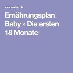 Ernährungsplan Baby » Die ersten 18 Monate