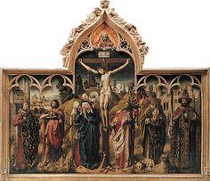 Maître de Dreux Budé (André d'Ypres ?) (connu à Tournai et Amiens de 1428 à 1444 - Mons, Hainaut, 1450) La Crucifixion du Parlement de Paris Commencé avant 1450 H. : 2,26 m. ; L. : 2,70 m. Remis au Louvre en 1904 , 1904 R.F. 2065