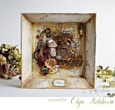 """Olga's frame is simply GORGEOUS! Let's see what inspired her! """"Warm autumn…"""