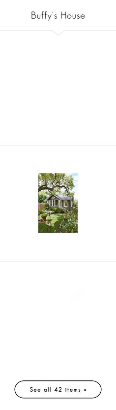 """""""Buffy's House"""" by taserface ❤ liked on Polyvore featuring fillers, effects, circle, backgrounds, frames, borders, outlines, quotes, text and doodle"""