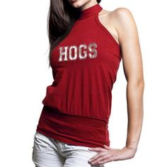 Beat the heat this season in sassy Razorbacks style with this premium Bloused halter tank!#FanaticsWishList