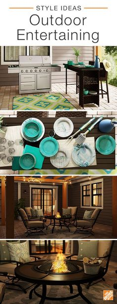 Celebrate this summer with stylish offerings for outdoor entertaining. Start by upgrading your grill game with the 6-Burner Dual Chamber Propane Gas Grill. With an attached rotisserie for slow-roasting meat, it's sure to cook your dinner to perfection. Enjoy grill-side drinks with the chic Rehoboth Wicker Bar that doubles as seating for your ultimate summer retreat. As the sun starts to set, relax fireside with the Redwood Valley Patio Set. See more ways to bring your patio to life.