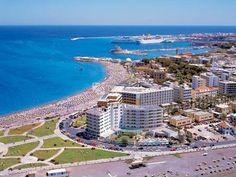Ρόδος (Rhodos,Rhodes,Rodos) Rhodes town Elli beach!! — στην τοποθεσία Elli Beach.