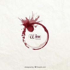 Logotipo mancha de vinho Vetor grátis