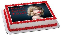 Taylor Swift Edible Birthday Cake Topper OR Cupcake Topper, Decor