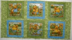 Teresa Kogut Nature Walk Bear And Animals Fabric Panel by SeaPillowTreasures on Etsy