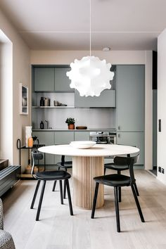 Mono Apartments - Picture gallery // stunning dining area in small kitchen