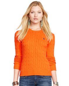 Slim-Fit Cabled Cotton Sweater - Polo Ralph Lauren Crewnecks & Tanks - RalphLauren.com