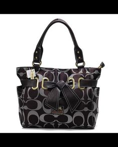 Coach Poppy Bowknot Signature Medium Coffee Totes ANA Is Synonymous With High Quality And Grea Reputation.