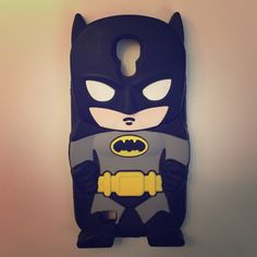 f51212f800a Batman Samsung Galaxy S4 Case Like new. No rips. Silicone rubber material.  Fits Samsung Galaxy S4. Accessories Phone Cases