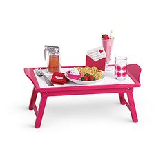 What my little american girl wants for her birthday American Girl Breakfast in Bed Set for Dolls American Girl Food, American Girl Doll Room, American Girl Crafts, American Dolls, American Girl Furniture, American Girl Accessories, Baby Doll Accessories, Travel Accessories, Doll Food