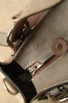 SMALLER Leather handmade Shoulder Bag with Clutch Set от ladybuq