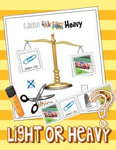 "FREE Virtual Scale:  Sort by Weight ""You Can't Win the Battle Against the Brain!"" .....Follow for Free 'too-neat-not-to-keep' literacy tools  fun teaching stuff :)"