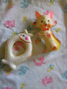 Old Plastic Baby Toys...I remember this type of baby toys very well.