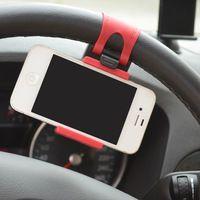 New Universal Car Phone Holder Bracelet For Iphone 6 Plus 5s Steering Wheel Car Holder Stand Mount for Samsung GPS Smart Phone