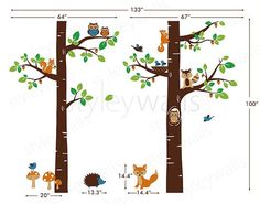 Forest Animals Wall decal Children Wall Art Decal by styleywalls, $165.00