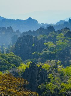 Laos has a los of green meaning a lot of plants since there is a lot of rain. PT.1