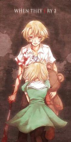 Higurashi no Naku Koro ni (When They Cry) Image - Zerochan Anime Image Board Manga Naruto, Anime Manga, Umineko When They Cry, Animes To Watch, Art Manga, Crazy Girls, Anime Shows, Yandere, Me Me Me Anime
