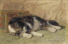 Studies of cats and kittens by Henriette Ronner-Knip (1821-1909).