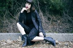 Get this look: http://lb.nu/look/8102656  More looks by Amy Roiland: http://lb.nu/afashionnerd  Items in this look:  Members Only Jacket   #gothic #retro #street