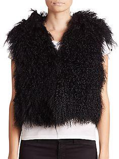Adrienne Landau Mongolian Lamb Fur Vest <br>