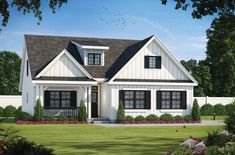This modern farmhouse plan features an open floor plan that feels stylish and cool. Use code GETSOCIAL for 10% off your dream home (some exclusions apply). Questions? Call 1-800-447-0027 today. #architect #architecture #buildingdesign #homedesign #residence #homesweethome #dreamhome #newhome #newhouse #foreverhome #interiors #archdaily #modern #farmhouse #house #lifestyle #design #buildersareessential