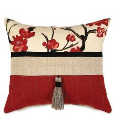 Sakura Collection - Cushion with 15 x 18 accents # . Sakura Collection - Pillows with accents Sewing Pillows, Diy Pillows, Accent Pillows, Floor Pillows, Red Throw Pillows, Decorative Cushions, Scatter Cushions, Decorative Pillow Covers, Luxury Bedding Collections