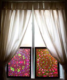Decoración de ventanas con caleidoscopios
