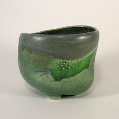 Green Tea Bowl by janellesonger -  I think it would make a beautiful planter as well!