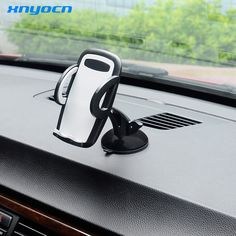 "Xnyocn Car Mobile Phone Holder Adjustable Stand for 3.5"" To 6.0"" Smartphones 360 Rotate for IPhone 7 Plus/SE Samsung S7 Edge S8"