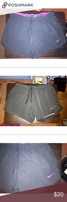NEW!! Black Nike shorts These shorts are black sorry if they look gray they are in perfect condition and just waiting for the right home. Nike Shorts